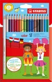STABILO color, coloured pencil, cardboard wallet of 18 colours
