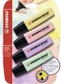 STABILO BOSS ORIGINAL Pastel highlighter blister of 4 colours
