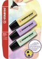STABILO BOSS ORIGINAL Pastel highlighter blister of 3 colours