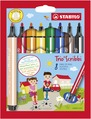 STABILO Trio Scribbi triangular fibre-tip pen with spring-loaded tip cardboard wallet of 8 colours