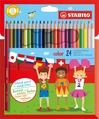 STABILO color, coloured pencil, cardboard wallet of 24 colours including 4 fluorescent colours