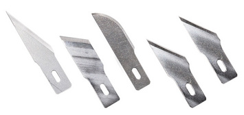 Assorted Heavy Duty Blades - 5pcs. 1 - #2, #19, #22 & 2 - #24 picture