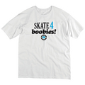 SKATE 4 BOOBIES TEE - WHT