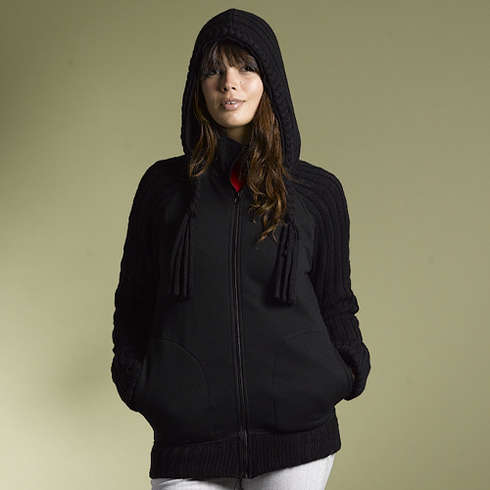 109 ZIP FLEECE - BLK Bild