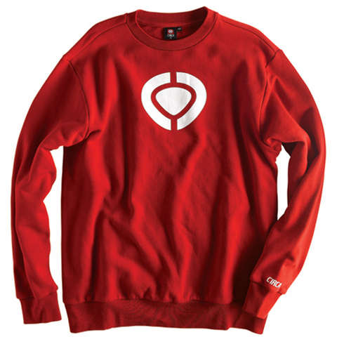 ICON CREW FLEECE - RED picture