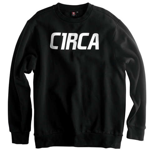 MAINLINE FONT CREW FLEECE - BLK picture