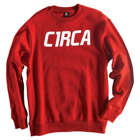 MAINLINE FONT CREW FLEECE - RED picture