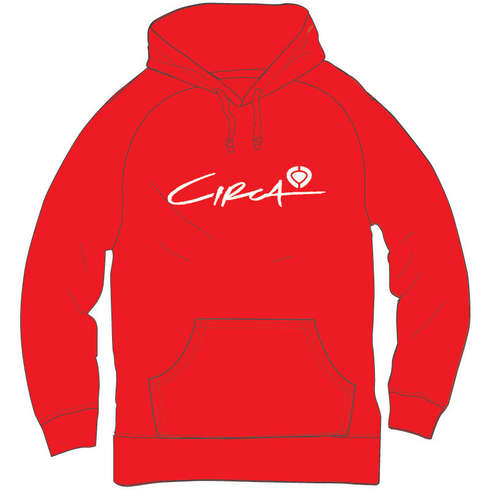 SELECT LOGO HOOD FLEECE - RED picture