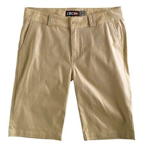FLAT FRONT CHINO SHORTS - MODE picture