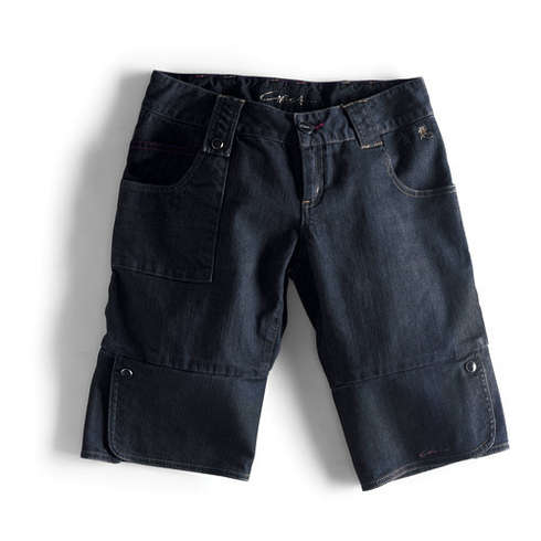 BLACK DRAGON DENIM SHORT - INDRR Bild
