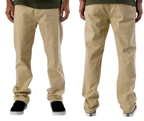 FLAT FRONT CHINO PANT - MODE picture