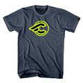 Zydeco t-shirt - grey/neon yellow
