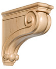 "Large Traditional Corbel, 6""w x 17""h x 18""d, Maple"