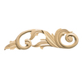 Large Scrolls (Sold left and right pair per card), 4 1/2''w x 16''h x 13/16''d, Lindenwood