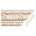 Medium Acanthus with Egg and Dart, 6'' x 1'', Poplar