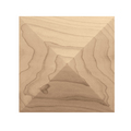 "Square Pinnacle Tile, 6"" sq. x 3/4""d, Maple"