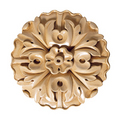 Large Round Rosette (Sold 2 per card), 5''w x 5''h x 3/4''d, Lindenwood