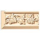 "Vineyard Frieze(Repeats 17 3/4""), 3 1/2'' x 13/16'' x 8' length, Maple"