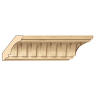 "Medium Fluted Crown(Repeats 2""), 3 1/2'' x 13/16''x 8' length, Maple"