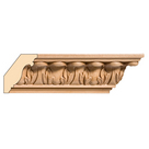 """Small Acanthus Crown(Repeats 1 3/4""""), 2 1/2'' x 13/16'' x 8' length, Maple"""