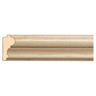 "Traditional Lipping Panel Mould(Lips 1/4"" to 1/2""), 1 1/2'' x 3/4'' x 8' length, Maple"
