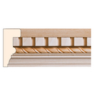 Dentil with Rope, 2 1/4'' x 1 1/16'', Poplar