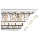 Large Acanthus with Dentil (Repeats 7 1/2), 7 1/2'' x 7/8'', Poplar