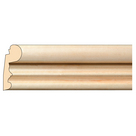 """Traditional Lipping Panel Mould(Lips 1/4"""" to 3/4""""), 2 1/4'' x 3/4'' x 8' length, Maple"""