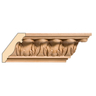 "Medium Acanthus Crown(Repeats 2 1/2""), 3 1/2'' x 13/16'' x 8' length, Maple"