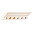 Small Dentil Crown (Dentil is overlay), 3 1/2'' x 13/16'', Poplar