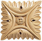 Medium Square Rosette (Sold 2 per card), 3 1/2''w x 3/8''h x 3 1/2''d, Lindenwood