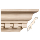Large Double Cut Dentil, 5 1/2'' x 13/16'', Poplar