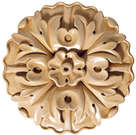 Medium Round Rosette (Sold 2 per card), 3 1/2''w x 3 1/2''h x 5/8''d, Lindenwood