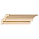 Large Traditional Cove Crown, 3 1/2'' x 13/16''x 8' length, Maple