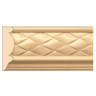 "Woven Frieze(Repeats 2""), 3 1/4'' x 13/16'' x 8' length, Maple"