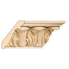 Extra Large Acanthus Crown, 4 3/4'' x 13/16'' x 8' length, Maple