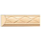 "Woven Panel Mould(Repeats 1 3/4""), 1 1/2'' x 11/16'' x 8' length, Maple"