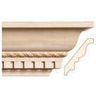 Rope with Dentil, 5'' x 3/4'', Poplar