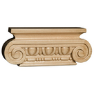 "Med Ionic Capital, 8"" w x 3 1/2"" h x 1 5/16"" d, Lindenwood"