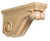 "Traditional Rangehood Corbel, 5 1/2""w x 10""h x 18""d, Maple"