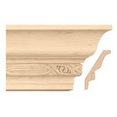 """Light Rail Crown Moulding With Nouveau Insert, 5""""w x 13/16""""d x 8' length, Maple"""