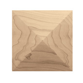 "Square Pinnacle Tile, 6 ""sq. x 3/4""d, Maple"