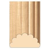 """Grand Reeded Half Lineal, 4""""w x 2""""d x 8' length, Cherry"""