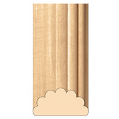"""Extra Large Reeded Half Lineal, 3""""w x 1 1/2""""d x 8' length, Maple"""