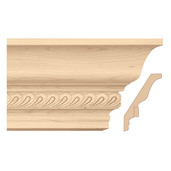 """Light Rail Crown Moulding With Madeline Insert, 5""""w x 13/16""""d x 8' length, Maple"""