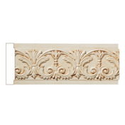 "Medium Acanthus Leaf & Scrolled Bellflowers, 1"" X 4 1/2"", Poplar"
