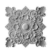 "Louis XIV Medallion, Plaster, 38 1/2""w x 38 1/2""h x 2""d, Plaster"