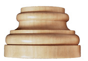 Large Traditional Plynth, 3 3/4''w x 2 3/8''h x 1 7/8''d, Sold 2 per package, Maple