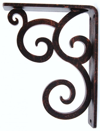"""Isabelle Iron Corbel, 7 1/2""""d x 10""""h x 1 1/2'w, TP Holes, Unfinished picture"""