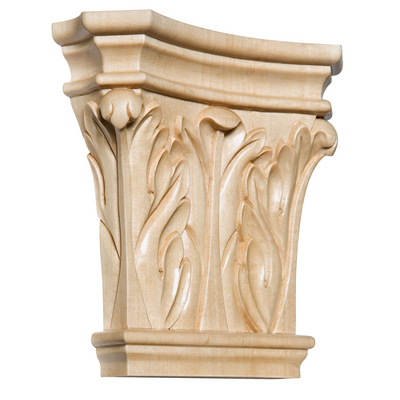"""Extra Large Corinth Capital, 8""""w x 8""""h x 2 1/4""""d, Lindenwood picture"""